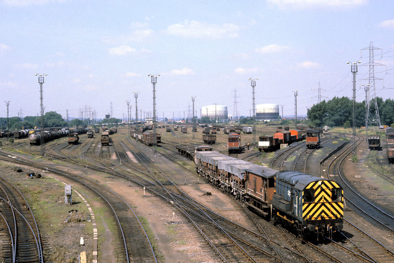 17th Aug '81:  08521 shunts the vaste acreage of Temple Mills yard