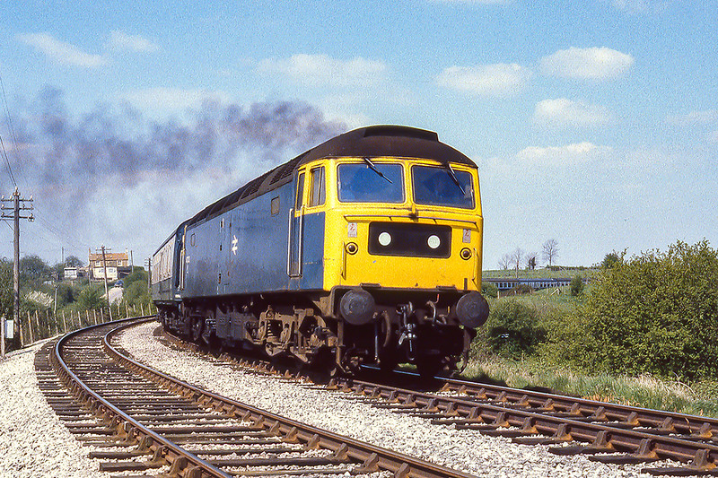 18th Apr 1981:  47232 is  working round the East Chord from Hawkeridge to Heywood Road Junctions.  It is a diverted train going to Paddington but in those days  there was no method of working out what the service was unfortunately. I