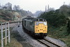 2nd April 1981:  At 10.04 31233 turns onto the Coley Branch at Southcote Junction with what looks to be a short rake of coal wagons