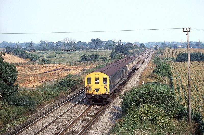 4yth Sep 1981;  2 HAP  6053 westbound at Oving