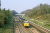 22nd Apr 82:  On a beautiful April morning 50031 'Hood' roars through the Sonning  Cutting when working the 06.05 Hereford to Paddington