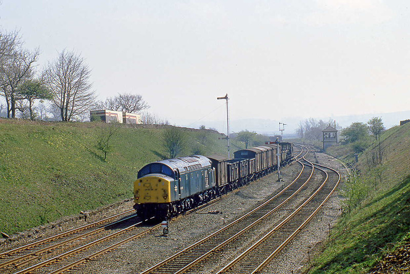 27th Apr 82:  Taking the Carlisle route is 40096 with a mixed freight