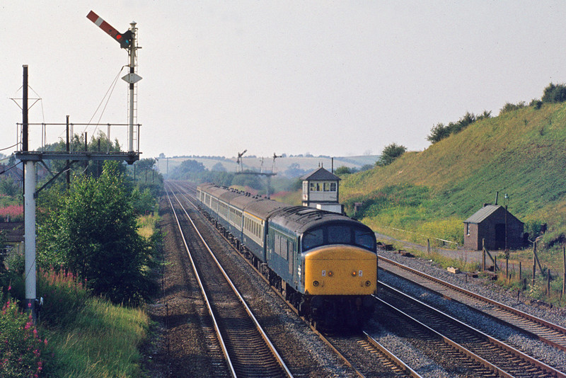 27th Jul '82:  45131 southbound at Sileby.  17.05 Nottingham-St Pancras