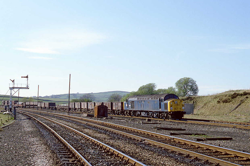 27th Arpr 82:  40028 enters Hellifield with a southbound freight