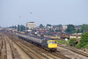 17th Jun 82:  the 16.38 Waterloo to Yeovil Junction powered by 33010 is seen  racing through Woking.  The first srop will be at Basingstoke