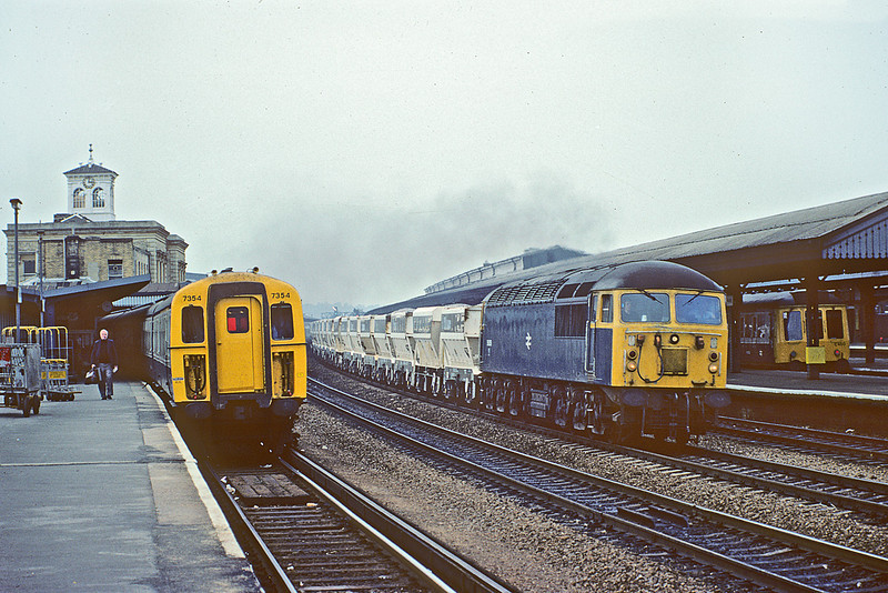 11th Sep 82:  56056 on the Up Through line at Reading with Yeoman hoppers. 4VEP 7354 waits with a service to Waterloo