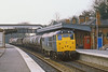 2nd Apr 82:  Trundling through Taplow is 31122 on a short Up mixed freight