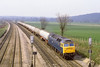 2nd Apr 82:  47379 leads boggie tanks through Purley on Thames