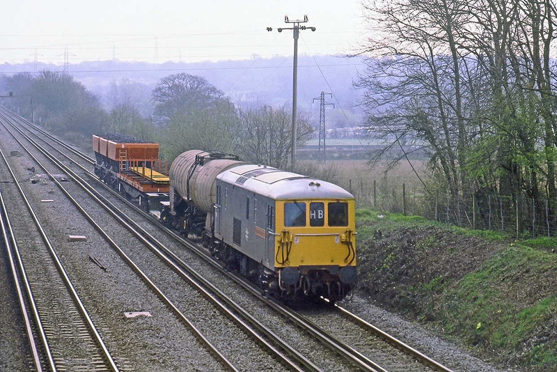 18th Apr 82:  73101 'Bighton Evening Argus' with a short Speedlink service is captured at Old Basing