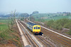 27th Apr 82:  Class 101  E50623 approaches from Giggleswick on the 15.22 Morcambe  to Leeds
