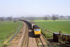 26th Mar 82:   47175 on a south bound liner is about to run through Mortimer Station