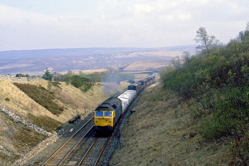 26th Apr 82:  47443 climbs to Shotlock Hill Tunnel with a north bound mixed freight