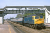 23rd Apr 82:  47423 hammers through Taplow on the 07.27 Manchester Piccadilly to Brighton
