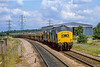 30th Jun 1982:  37233 & 37208 are approaching Culham woth stone empties for theSomerset Quarries