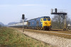 26th Mar 82:  50006 'Neptune' heads an early  morning Exeter to Paddington service through Ruscombe