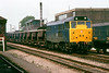 5th Jun 83:  31304 on Ballast Hoppers at Reading.  These lines are being burried under the new Reading Station