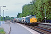 17th May 83:  31123 at Taplow with Ford Trucks that have been loaded at Maidenhead