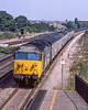 28th Aug 1983:  The 14.15 Paddington to Oxford in the hands of 50045 'Achillies' is passing through Tap;pw