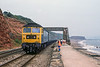 9th Aug 1983:  47474. The ECS for the 16.27 Paignton to Exeter that was altered to continue on to Paddington is at Dawlish.  My son in the picture will be 43 in August.  How time goes by.