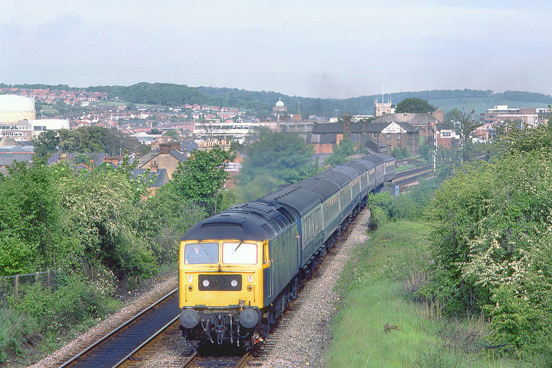 23rd May 83:  Leaving High Wycombe behind 47474 is the 06.43 from Birmingham New Street to Paddington