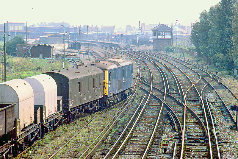 31st Aug 83:  On a slightly misty August morning 73103 waits to depart from Chichester Yard and will head for Norwood from Eastleigh