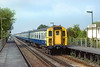 1st Sep 83:  The 11.32 from Portsmouth to Brighton led by 4CIG 7323 hurries through Fishbourne