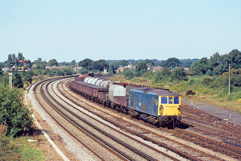 31st Aug'83:  Now on Deisel power 73103 shunts at Chichester