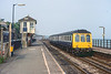 9th Aug 1983:  P467 is arriving at Dawlish with the 16.23 Exeter to Paignton.  There is even a hint of sun which was actually a rare event on that day.