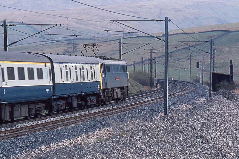 18th Apr 83:  At Greenholme 87019 Sir Winston Churchill with  te 11.50 from Aberdeen to Euston