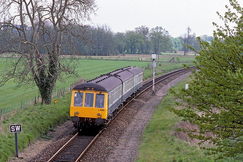 5th May 53:   L590 makes it's way towards Henley with the 14.33 from Twyford