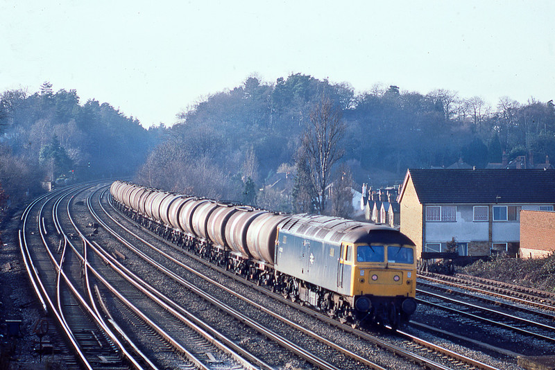 17th Jan 83:  47202 enters Woking with empty oil tanks from Micheldever to Ripple Lane