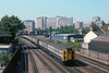 5th Jul 83: The 09.11 from Horsham to Victoria departs from East Croydon