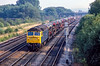 11th Aug 1983:  Just after 6pm 47350 with a loaded Cartic train heads north from Oxford