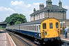 4th Jul 83:  2EPB 5779 calls at Chertsey while working the 12.22 from Staines to Weybridge
