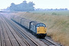 8th Jul 83:  37066 plods up the Relief line through Shottesbrooke with a parcels service from Swansea