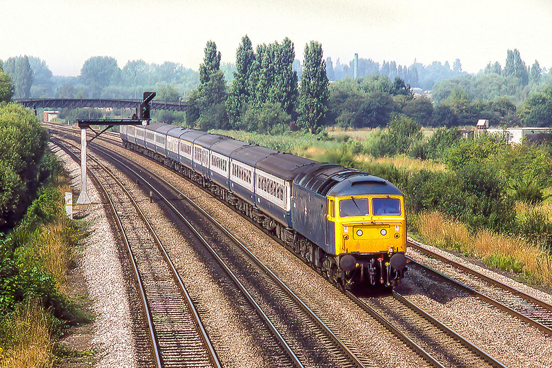 11th Aug 1983:  Nearing Oxford is 47492 with the 09.50 from  Newcastle to Poole sevice