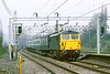 27th Apr 83:  'Cour de Lion' 87012 on the 09.15 from Manchester to Euston at Berkhamstead