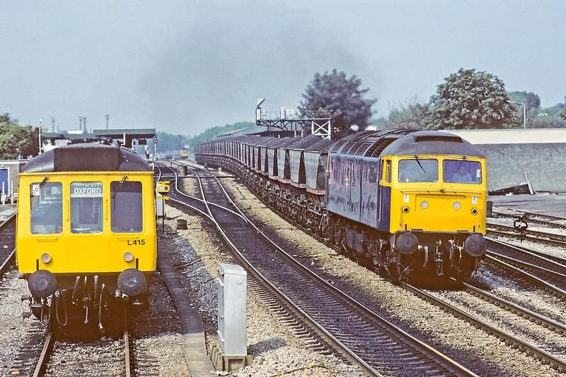 11th Aug '83  47199 hurries Didcot coal through Oxford