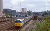11th May 83:  50005 'Collingwood' leaving Woking with the 09.10 Waterloo to Exeter