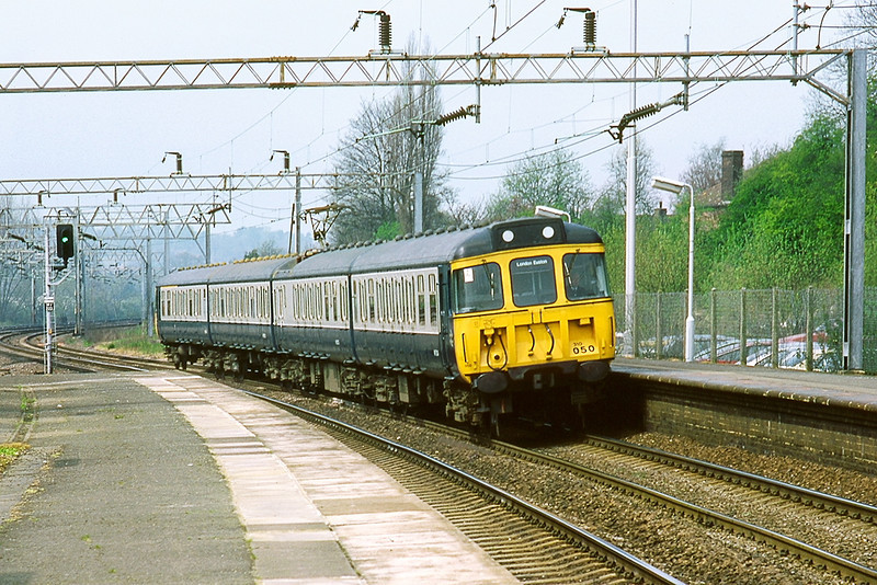 27th Apr 83:  310050 at Berkhamstead working the10.32 from Birmingham New Street to Euston