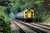 7th Jul 83:  4VEP 7749 forms the 11.02 Reading to Waterloo. Seen here nearing Ascot