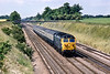 26th Jun 1983:  Oh 'Happy Days'  clear embankments, no wires and a class 50 doing the business.    At Shottesbrooke 50013 'Agincourt' is working the 09.38 from Oxford to paddington.   Ahhhhh!