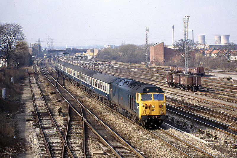 17th Feb 1983: 50013 'Agincourt' with the 08.00 Liverpool to Paddington at Slough West