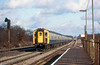 27th Jan 83: 4TC set 409 leads on the 12.35 Waterloo to Weymouth through Byfleet & New Haw