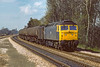 13th Apr 1983:  With a van acting as a barrier 47193 brings oil tanks towards London through Taplow