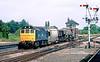 20th Jul 83:  25256 shunts at Princes Risborough preparing a freight to be taken to Aylesbury