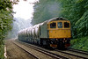 7th Jul 83:  33059 leaves Ascot towards Reading with a train of cement tanks