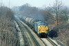 14th Mar 80: 37001 runs through Lyne with oil for Micheldever