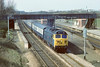 4th Apr 84:  50001 'Dreadnought'  roars through Iver with an Up express