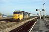 11th Nov 84:  50048 arrives at Reading with the 13.40 Paddington to Penzance